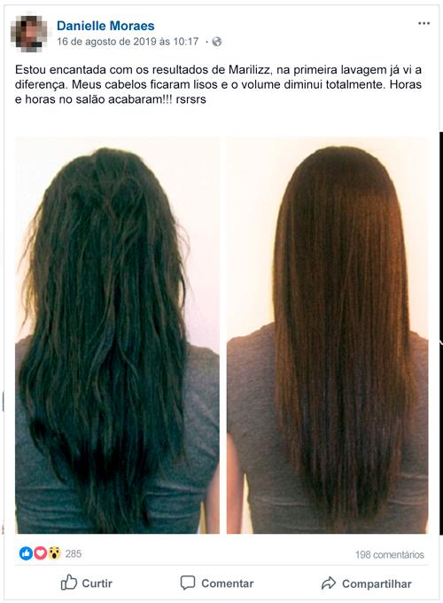 Marilizz antes e depois